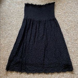 Velvet black lace dress